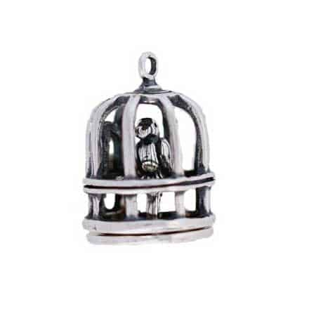 Bird in a Cage Charm
