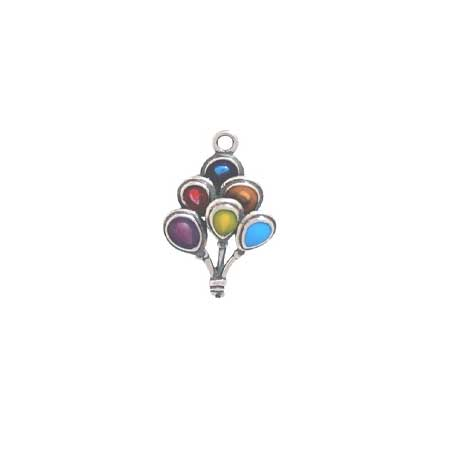 Enameled Balloon Bouquet Charm