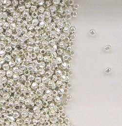 Sterling Silver 2mm Faceted Round Accent Beads