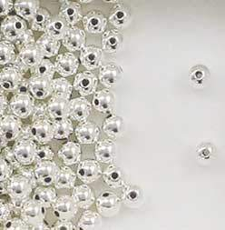 Sterling Silver 3mm Seamless Round Spacer Beads