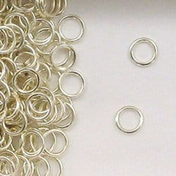 Sterling Silver 6mm Closed Jump Rings