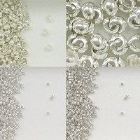 Sterling Silver Crimp Beads and Covers for Beading Projects