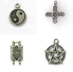 Sterling Silver Wiccan, Celtic & other Belief Charms