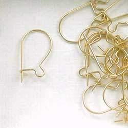 14K Gold Filled 23 Gauge Kidney Ear Wires