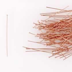 14k Rose Gold Filled 2 x 24 Gauge Domed Head Pins