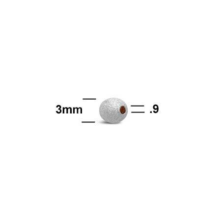 Stardust-Beads-3mm-Sterling-Silver-measurement