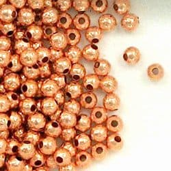 Solid Copper 4mm Hammered Round Spacer