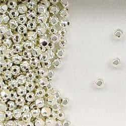 Sterling Silver 2.5mm Faceted Spacer Beads