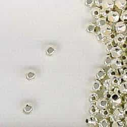 Sterling Silver 3mm Faceted Spacer Beads