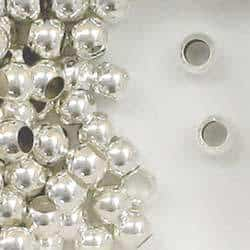 Sterling Silver 6mm Large Hole Round Spacer Beads