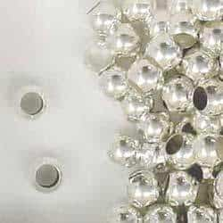 Sterling Silver 8mm Large Hole Round Spacer Beads