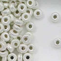 Sterling Silver 6mm Corrugated Tire Beads