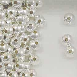 Sterling Silver 6mm Rondelle/Saucer Beads, Choice of Quantity