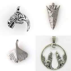 Sterling Silver Themed Pendants for Necklaces or Jewelry Desing