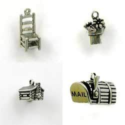 Sterling Silver Food Household and Garden Charm for Jewelry Designs