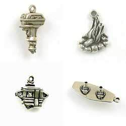 Sterling Silver Outdoor and Camping Charms for Earrings or Bracelets