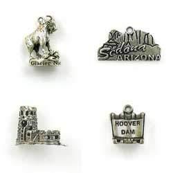Sterling Silver Travel & Transport Charms for Bracelets