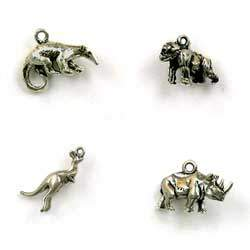 Sterling Silver World Animal Charms