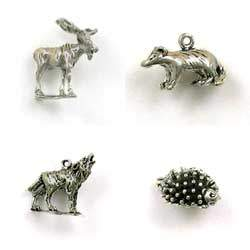 Sterling Silver Wild Animal of the World Charms