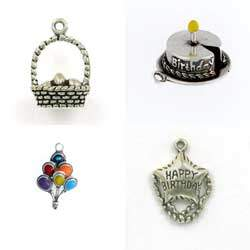 Sterling Silver Birthday & Holidays Charms for Gifts or Memorabilia