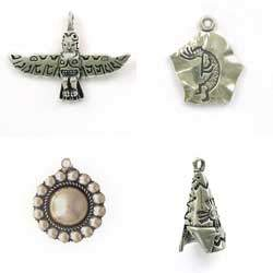Sterling Silver Native American Charms for Necklaces or Bracelets