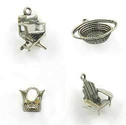 Sterling Silver Home Furnishing & Decor Charms for Jewelry Designs