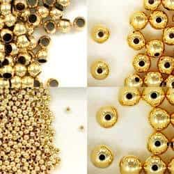 14K Gold Filled Seamless Round Spacer Beads