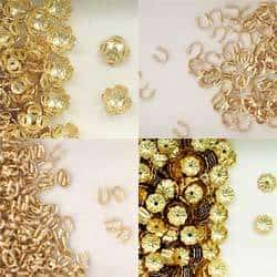 Gold Fill Wire Guards Medium Size for Beading Projects or Jewelry Making