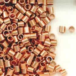Solid Copper 3x3mm Round Crimp Tube Beads
