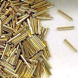 14K Gold Filled 1x6mm Pentagon Tube Beads