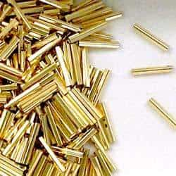 14K Gold Filled 1x10mm Pentagon Tube Beads