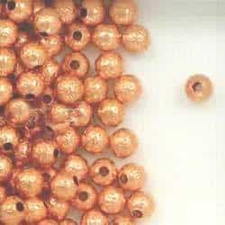 Solid Copper 4.7mm Hammered Round Beads