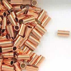 Solid Copper 3x6mm Round Tube Beads