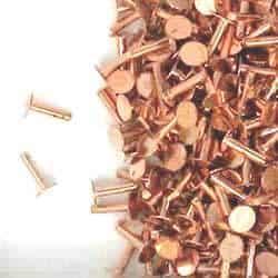 """Solid Copper 1/4"""" Rivets .150 Head"""
