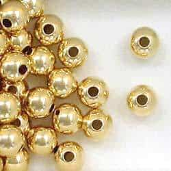 14K Gold Filled 7mm Seamless Round Spacer Beads