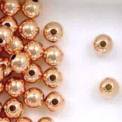 12k Rose Gold Filled 6mm Round Seamless Spacer Beads
