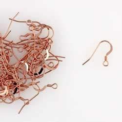 14K Rose Gold Filled 23 Gauge Ear Wire w/ Coil
