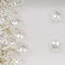 Sterling Silver 7mm Floral Bead Caps