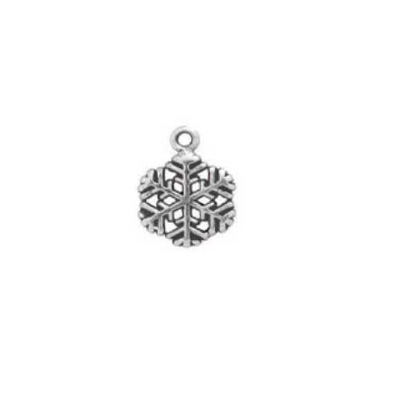 Hexagon Snowflake Charm