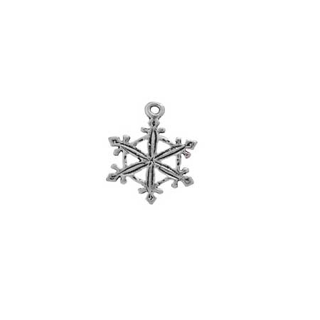 Pointed Snowflake Charm