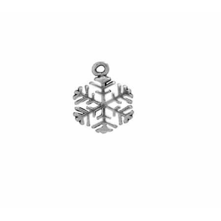 Flat backed Snowflake Charm