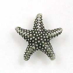 Sterling Silver 3-D Detailed Starfish Charm
