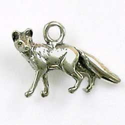 Sterling Silver 3-D Kit Fox Charm Wonderful Design
