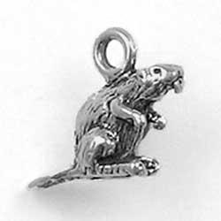 Sterling Silver 3-D Beaver Charm