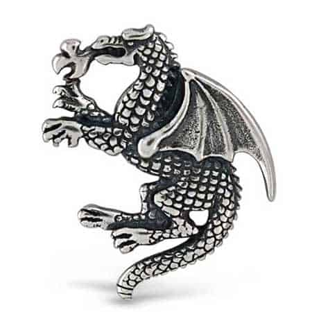 Fire Breathing Winged Dragon Charm
