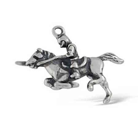 Knight on a Horse Charm jousting
