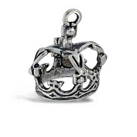 Queen Crown Charm-sterling silver