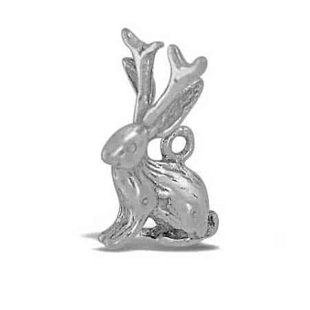 jackalope silver charm