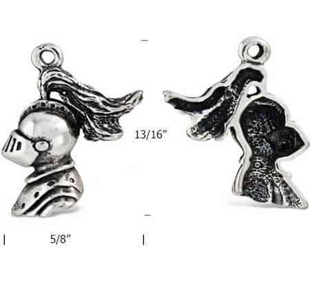 Knight-Head-silver-charm-measurement.