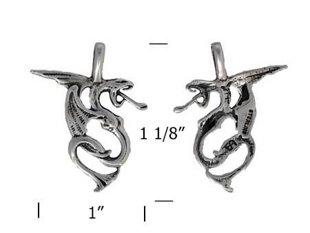 ff33-Dragon-Pendant-silver-charm-measurement